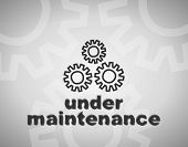 Website maintenance page message
