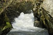 River Marteg Squeezes Though Narrow Gorge