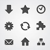 Vector internet icon collection