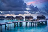 Water villas in the Maldives
