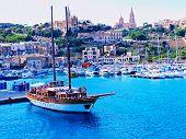 cityscape of Malta,  HDR image