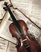 Violin On Music Book