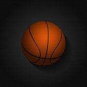 Basket Ball Background On Black Mesh