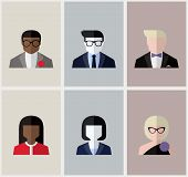 Modern Flat Vector Avatars. Male And Female User Icons