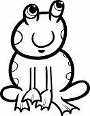 Frog Cartoon Coloring Page