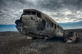 Wreck of a US military plane crashed in the middle of the nowhere. The plane ran out of fuel and cra