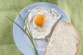 Fried Egg On A Plate