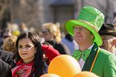 People At St. Patrick's Day Parade