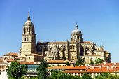 Salamanca Cathedral View, Spain, Summer