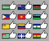 Flags in the Thumbs up-16