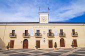 Town hall building. San Giovanni Rotondo. Puglia. Italy.