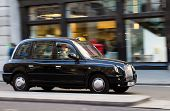 London Taxi At Speed