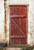 foto of shaky  - Old wooden plank vintage door - JPG