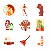 Animal, religious and culture symbols of Russia