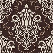 Vector damask seamless pattern element.