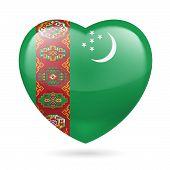 Heart icon of Turkmenistan