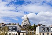 View of Montmartre and cathedral Sakre-Ker