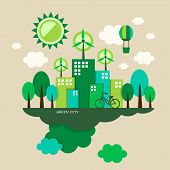 Flat Design Illustration Concept Of Ecology
