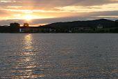 Dam In Sunset