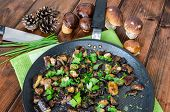 pic of chinese parsley  - Roasted mushrooms with cumin and fresh herbs  - JPG