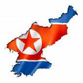 North Korean Flag Map
