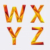 Poligon_orange_yellow_alphabet_w_x_y_z