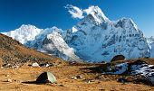 Camping Under Ama Dablam - Trek To Everest Base Camp - Nepal