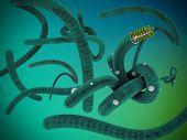 Illustration Of Virus Like Ebola On Gradient Background