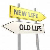 New Old Life Road Sign