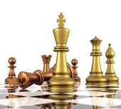 image of three kings  - A game of chess comes to an end - JPG