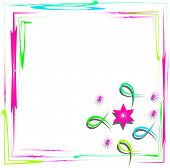 Bright Frame With Abstract Design