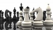 image of three kings  - Chess table with Chess figures - JPG