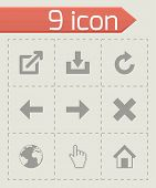 Vector black web icons set