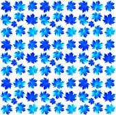 Pattern Of Blue Maple Leaves