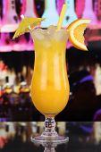 Orange Juice Fruit Cocktail In A Bar
