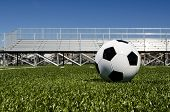 Soccer ball and stadium