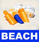 Beach Accessories. Holiday Background