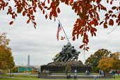 WASHINGTON, DC - NOVEMBER 06, 2013: Iwo Jima Memorial in Washington, DC. The Memorial honors the Mar