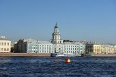 View Of The Kunstkammer Across The Neva River, St. Petersburg, Russia