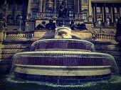 Fountain before National museum in Prag