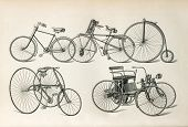 Antique Bicycles Types From The Beginning Of 20Th Century