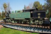 Steam Train on Turntable