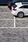 Stone Paved Parking Lot