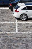 Stone Paved Parking Lot