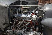Old Clean Car Engine