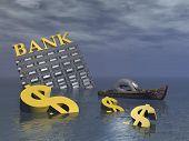 Bankruptcy - 3D render