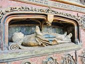 Bishop's Tomb In Amiens Cathedral, France