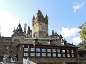 Tourists Near Cochem Imperial Castle, Germany