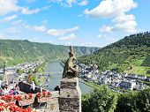 View Of Cochem Town From Imperial Castle, Germany