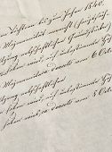 Vintage Handwriting With Undefined Text. Manuscript